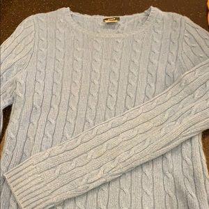 Blue j crew cashmere cableknit sweater XS